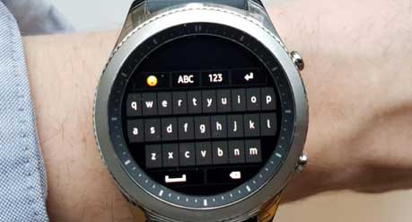 What Type Of Keyboard Is Available On A Smartwatch
